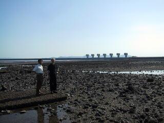 長崎県:諫早湾閉めきり堤防視察